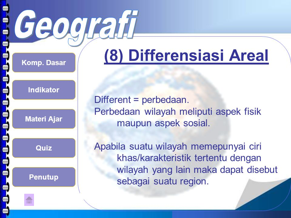 (8) Differensiasi Areal