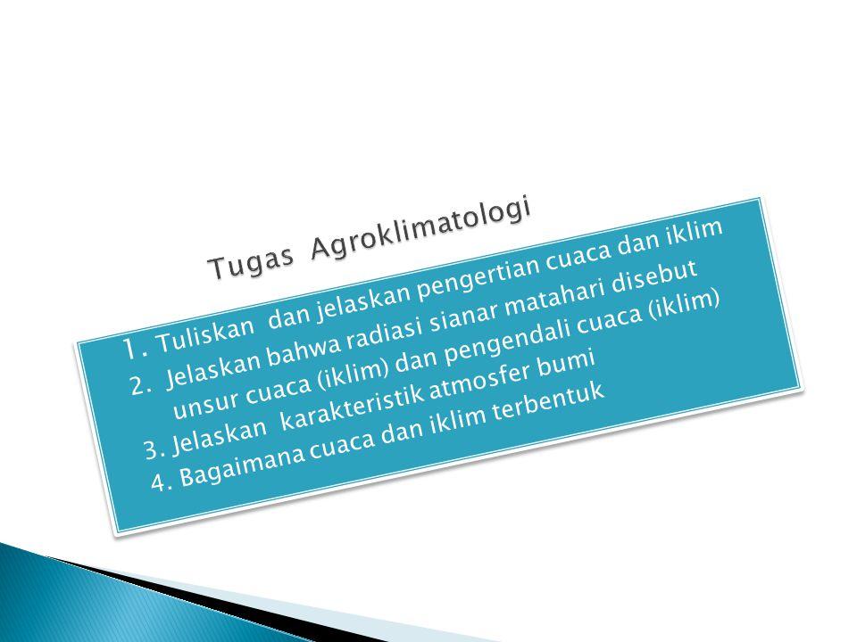 Tugas Agroklimatologi