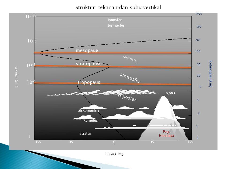Struktur tekanan dan suhu vertikal