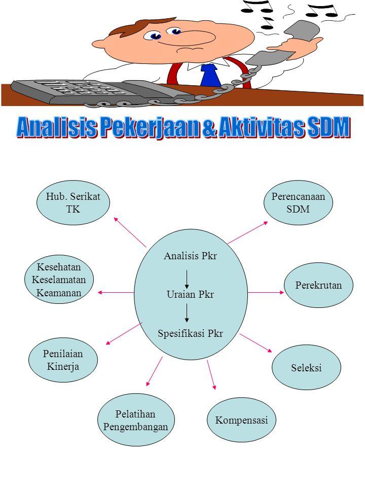 Analisis Pekerjaan & Aktivitas SDM