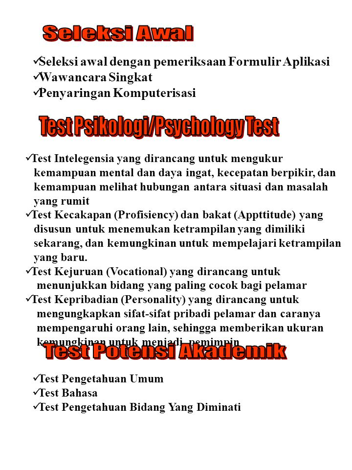 Test Psikologi/Psychology Test