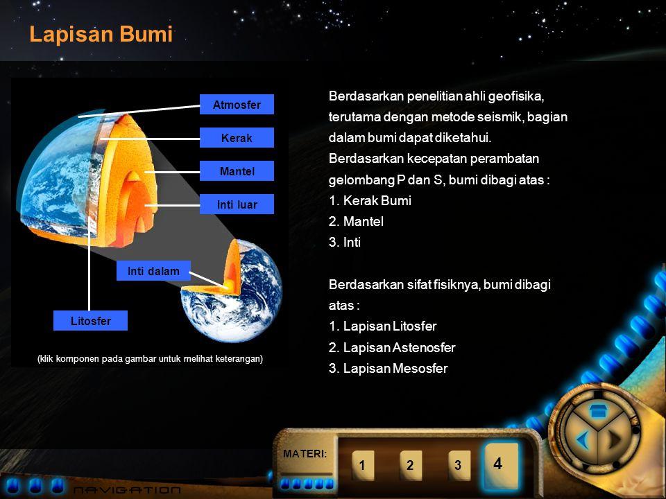 Berdasarkan penelitian ahli geofisika, terutama dengan metode seismik, bagian dalam bumi dapat diketahui.
