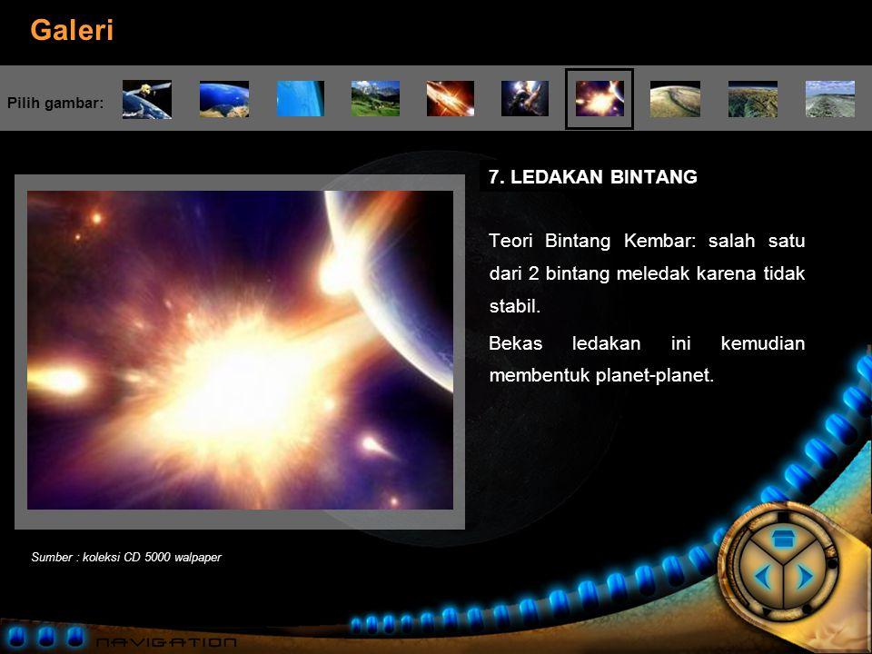 Bekas ledakan ini kemudian membentuk planet-planet.