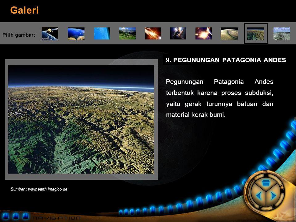 9. PEGUNUNGAN PATAGONIA ANDES