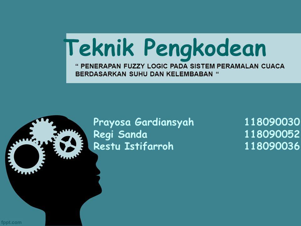 Teknik Pengkodean Prayosa Gardiansyah 118090030 Regi Sanda 118090052
