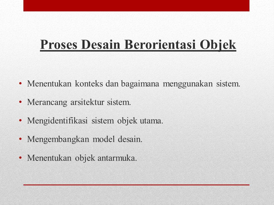 Proses Desain Berorientasi Objek
