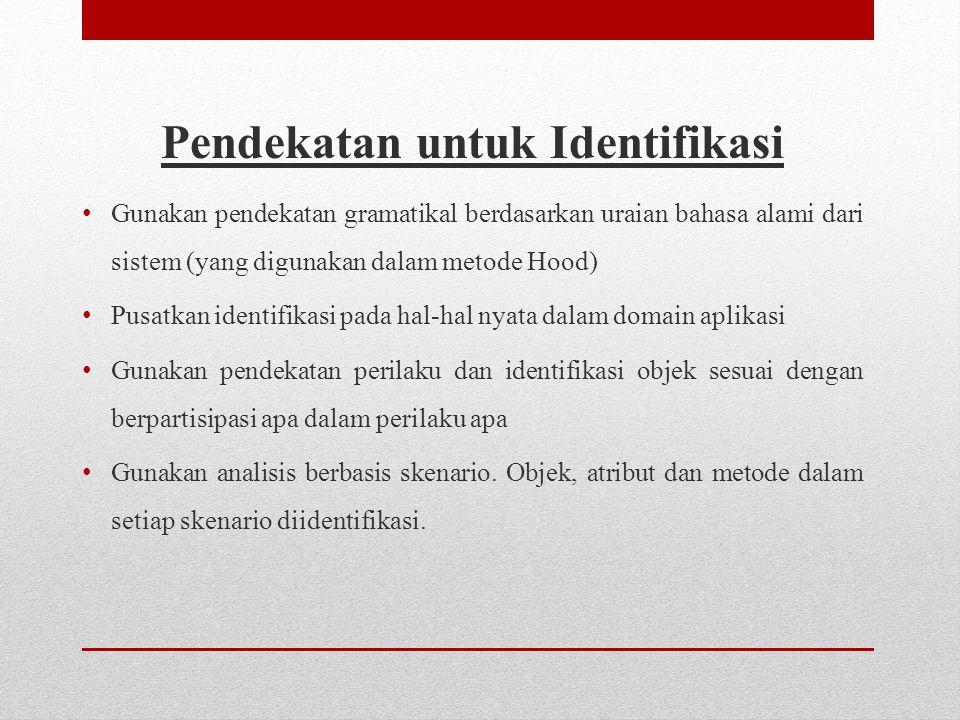 Pendekatan untuk Identifikasi