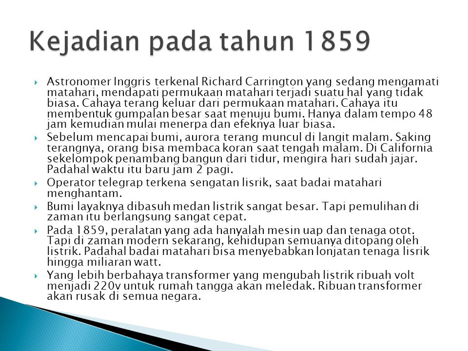 Kejadian pada tahun 1859