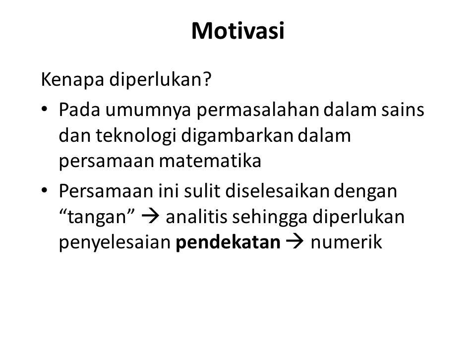 Motivasi Kenapa diperlukan