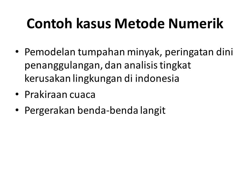 Contoh kasus Metode Numerik