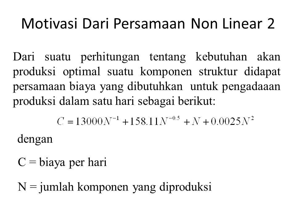 Motivasi Dari Persamaan Non Linear 2