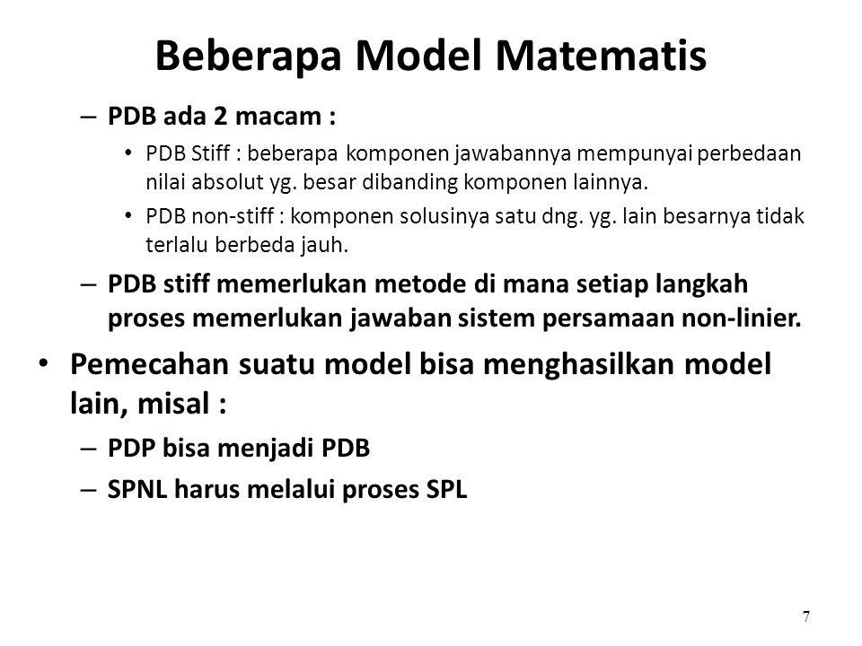 Beberapa Model Matematis