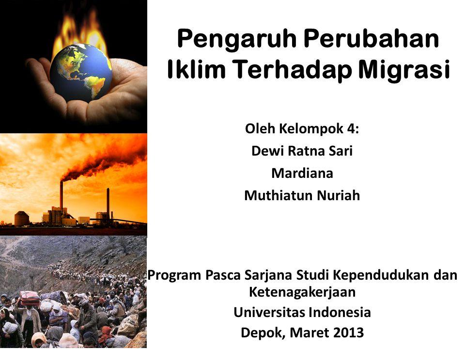 Pengaruh Perubahan Iklim Terhadap Migrasi