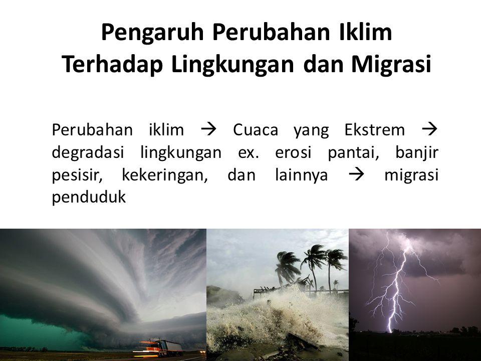 Pengaruh Perubahan Iklim Terhadap Lingkungan dan Migrasi