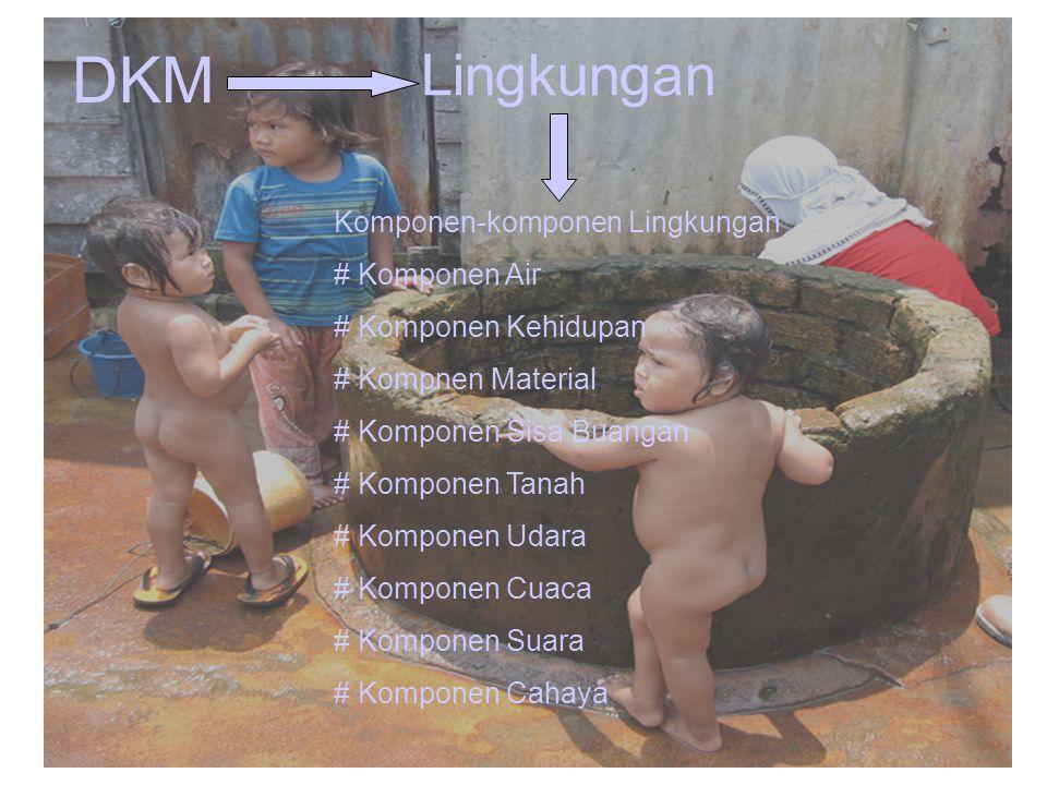DKM Lingkungan Komponen-komponen Lingkungan # Komponen Air