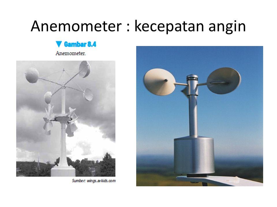 Anemometer : kecepatan angin