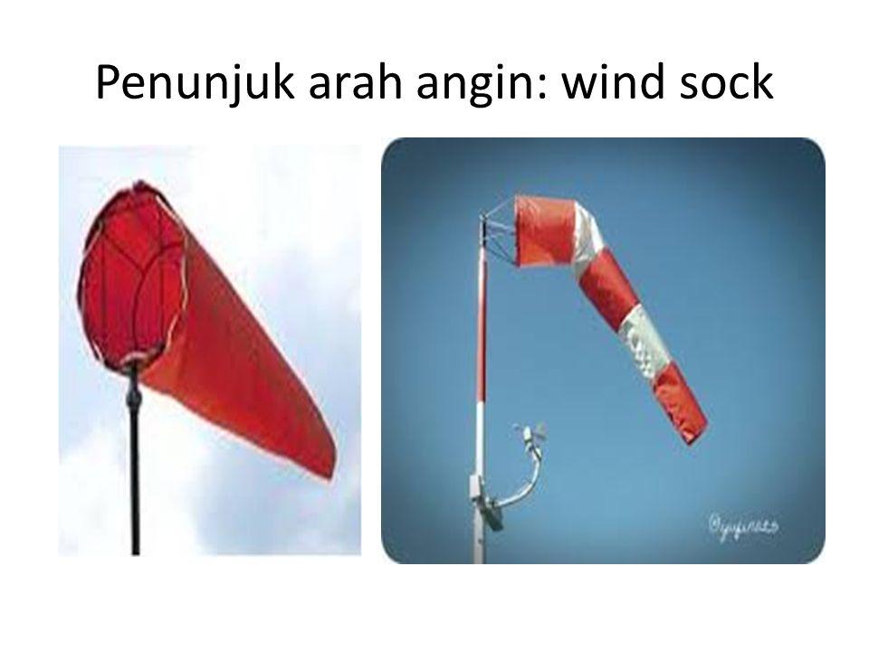 Penunjuk arah angin: wind sock