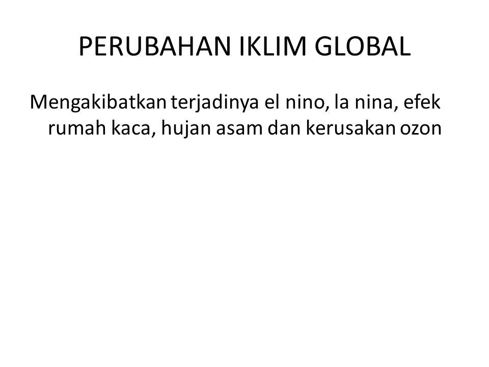 PERUBAHAN IKLIM GLOBAL