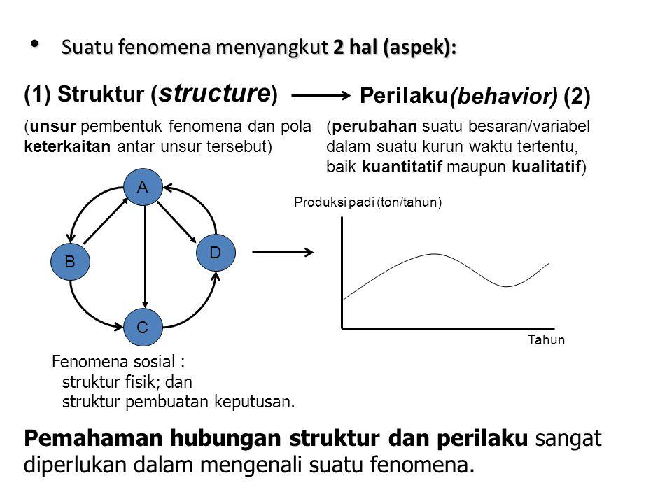 Suatu fenomena menyangkut 2 hal (aspek):