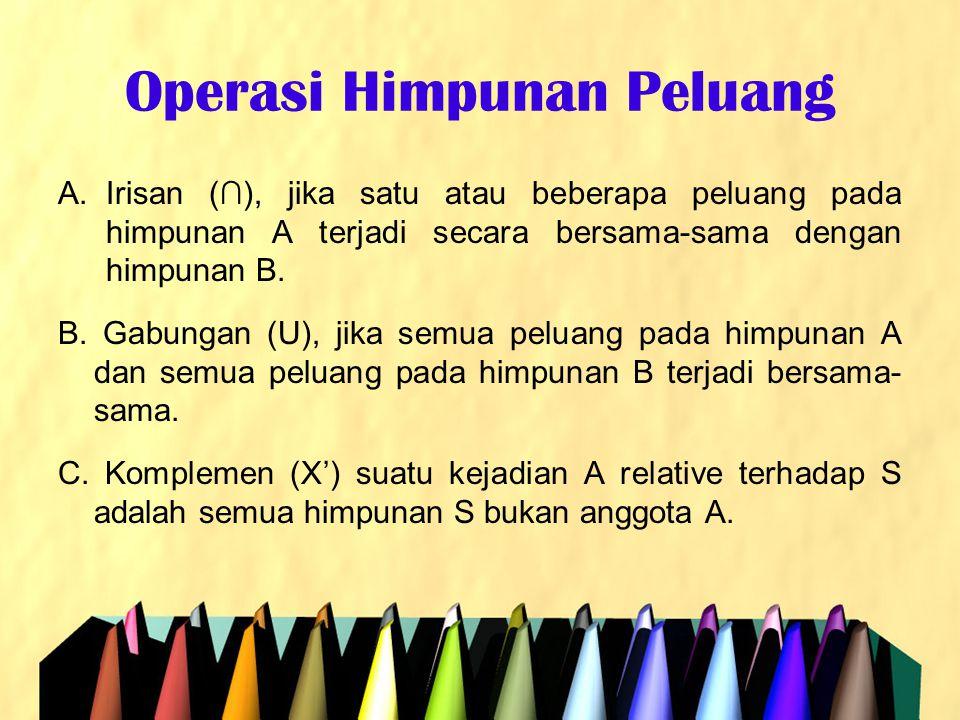 Operasi Himpunan Peluang
