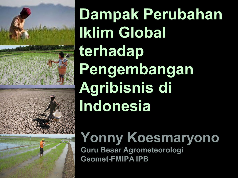 Yonny Koesmaryono Guru Besar Agrometeorologi Geomet-FMIPA IPB