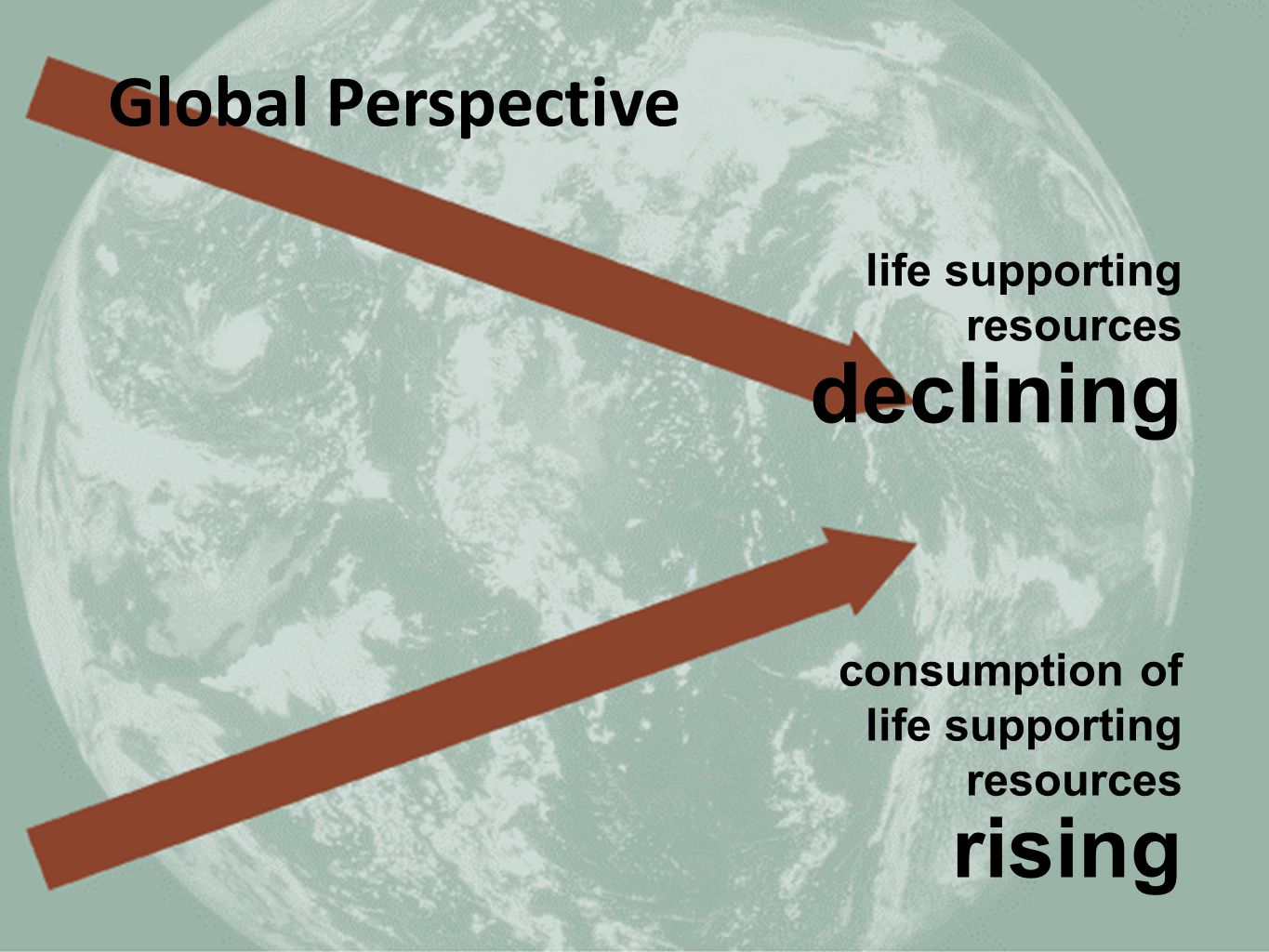 declining rising Global Perspective life supporting resources