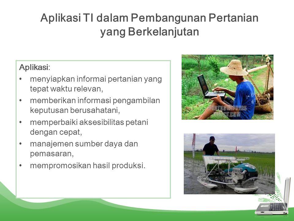 Aplikasi TI dalam Pembangunan Pertanian yang Berkelanjutan