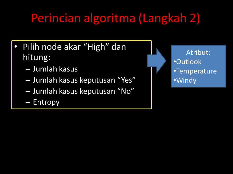 Perincian algoritma (Langkah 2)
