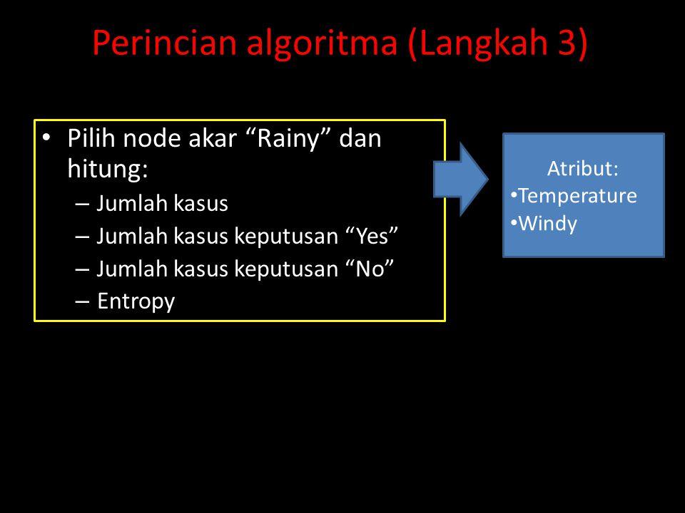Perincian algoritma (Langkah 3)