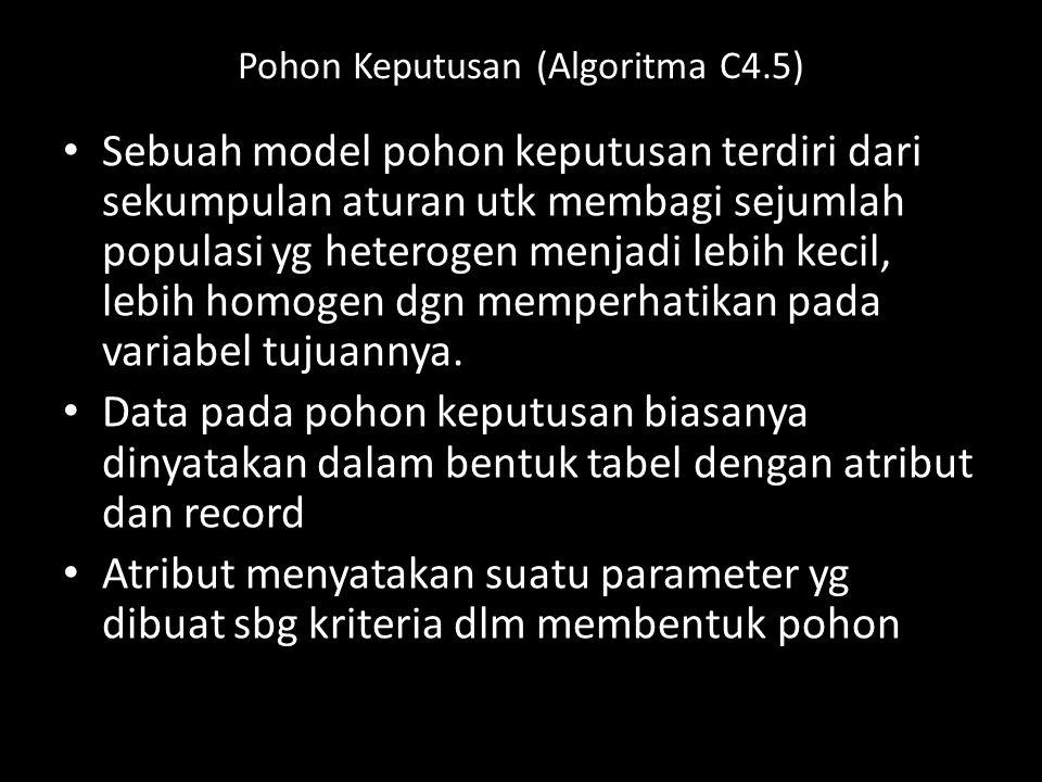 Pohon Keputusan (Algoritma C4.5)