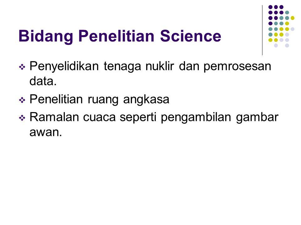 Bidang Penelitian Science