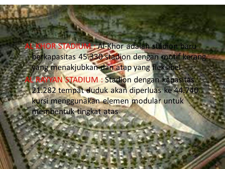 AL KHOR STADIUM : Al-Khor adalah stadion baru berkapasitas 45