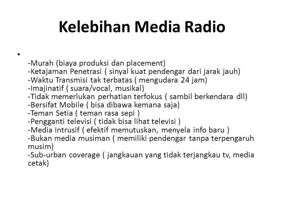 Kelebihan Media Radio