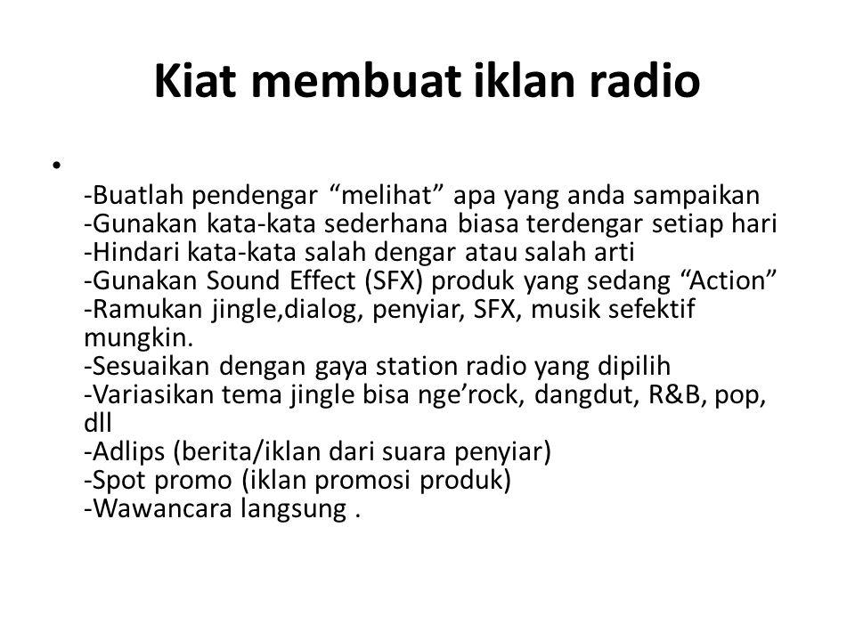 Kiat membuat iklan radio