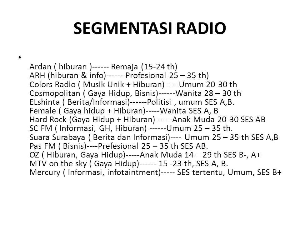 SEGMENTASI RADIO