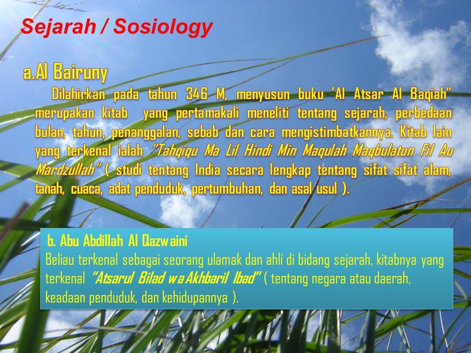 Sejarah / Sosiology Al Bairuny