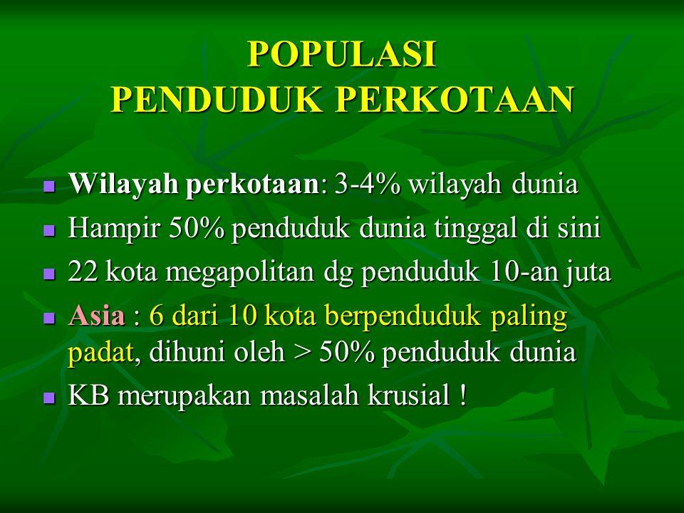POPULASI PENDUDUK PERKOTAAN