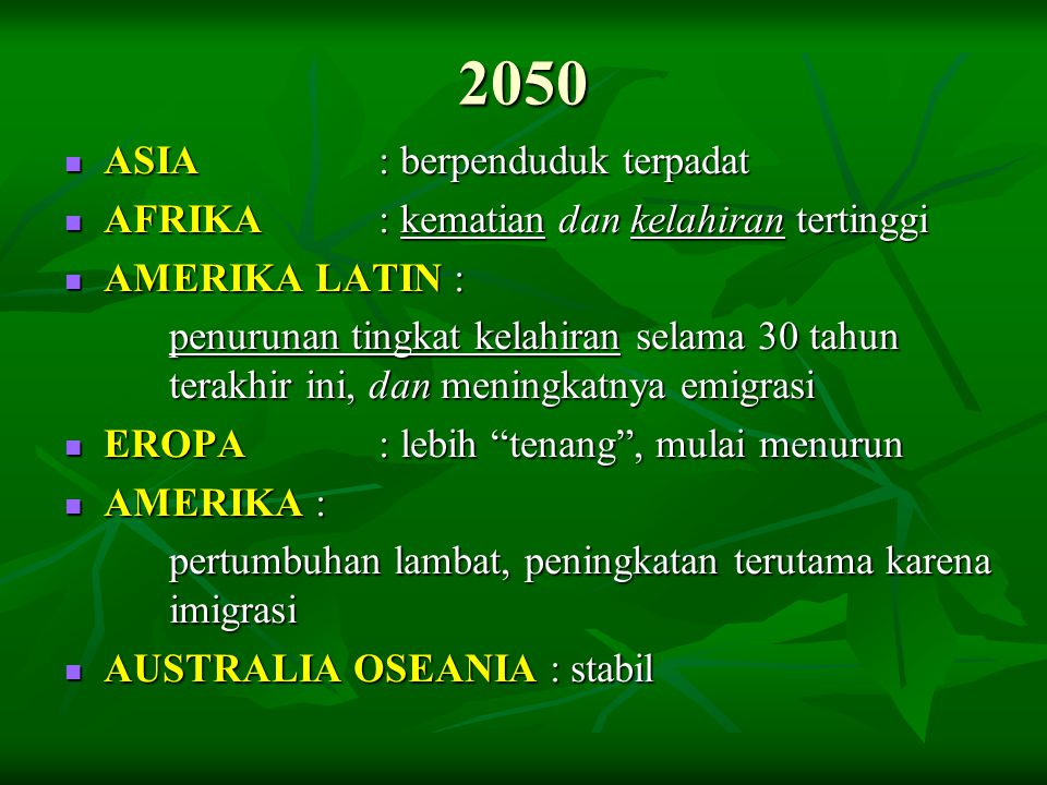 2050 ASIA : berpenduduk terpadat