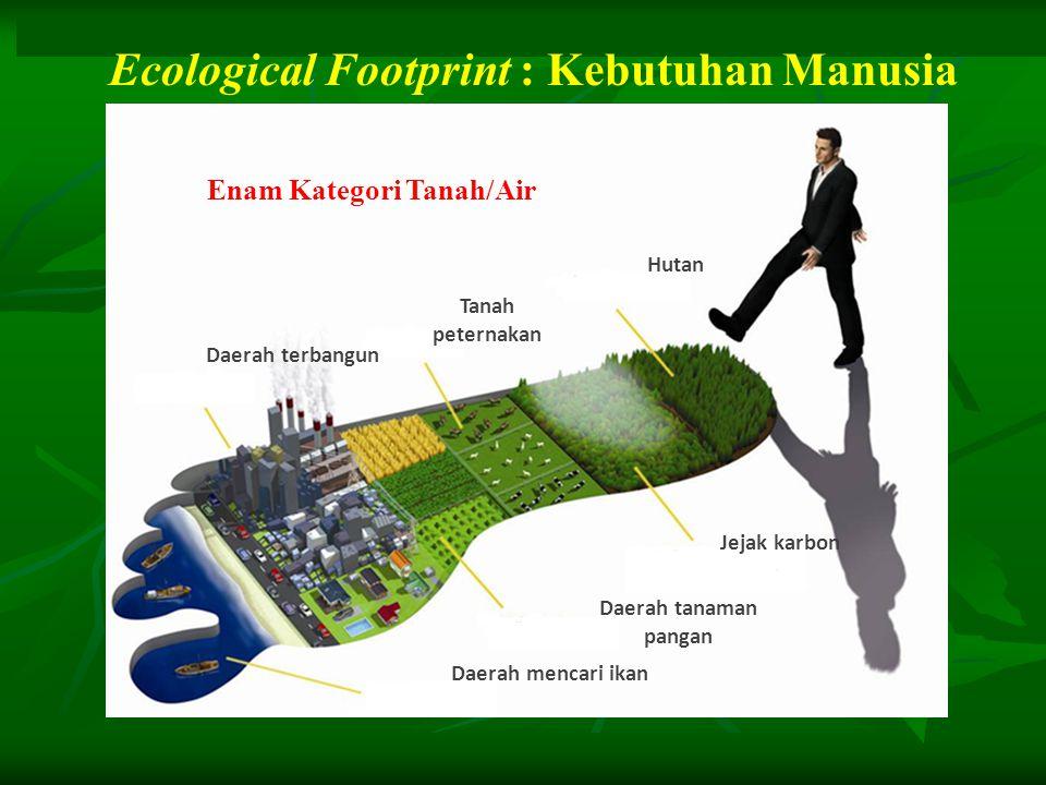Ecological Footprint : Kebutuhan Manusia