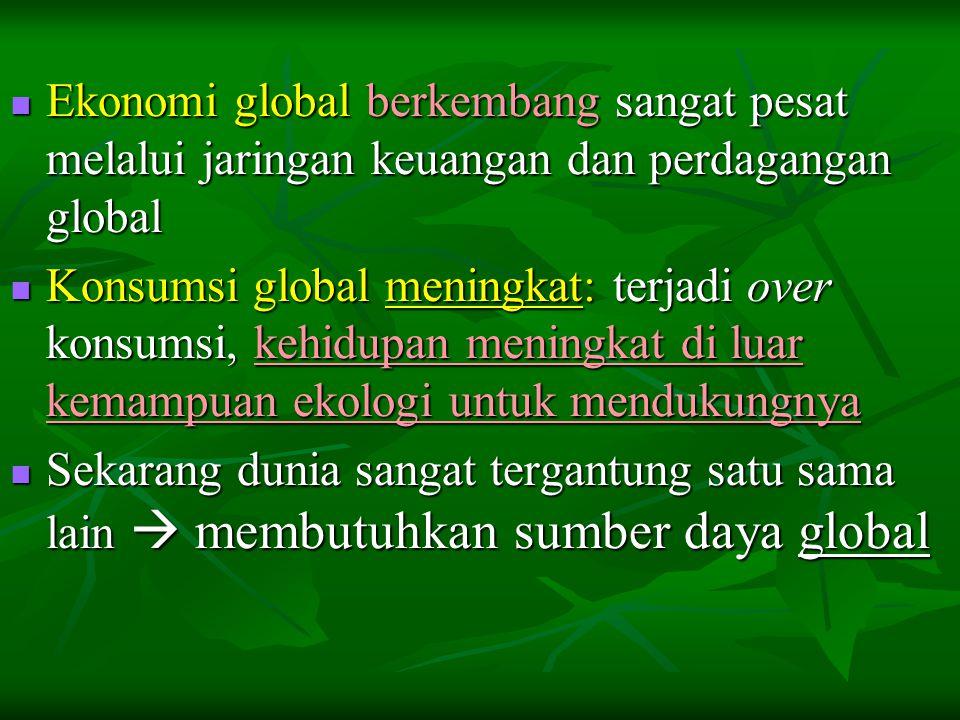 Ekonomi global berkembang sangat pesat melalui jaringan keuangan dan perdagangan global