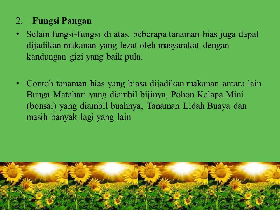 2. Fungsi Pangan