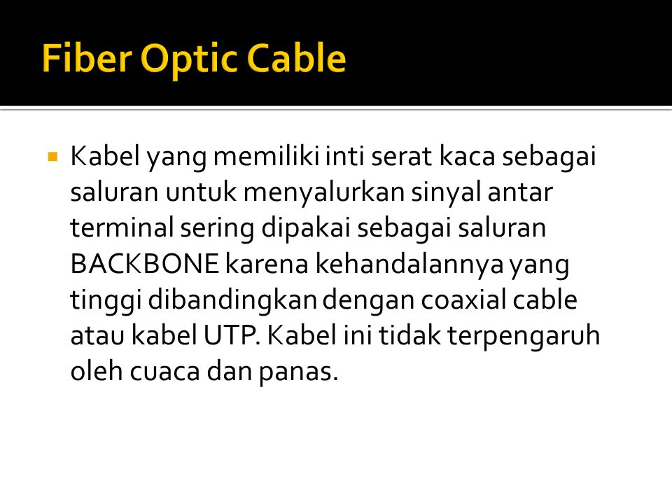 Fiber Optic Cable