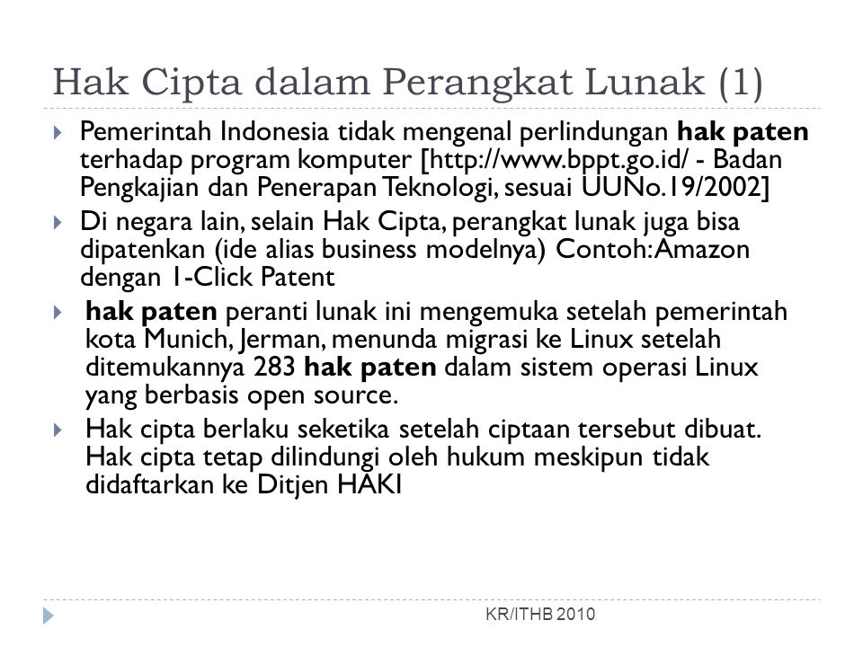 Hak Cipta dalam Perangkat Lunak (1)