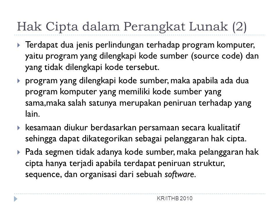 Hak Cipta dalam Perangkat Lunak (2)