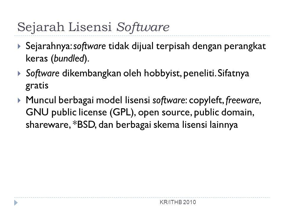 Sejarah Lisensi Software