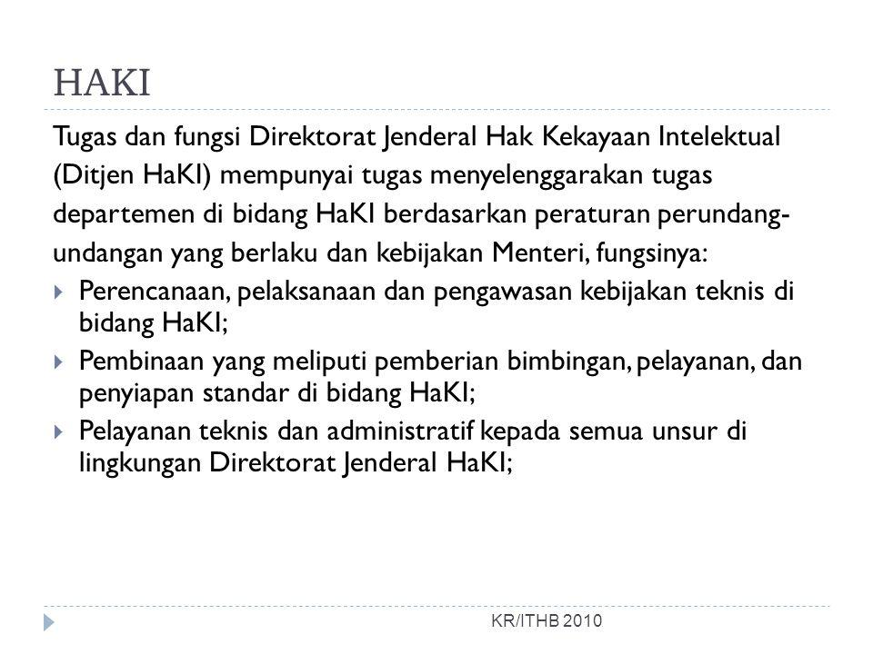 HAKI Tugas dan fungsi Direktorat Jenderal Hak Kekayaan Intelektual