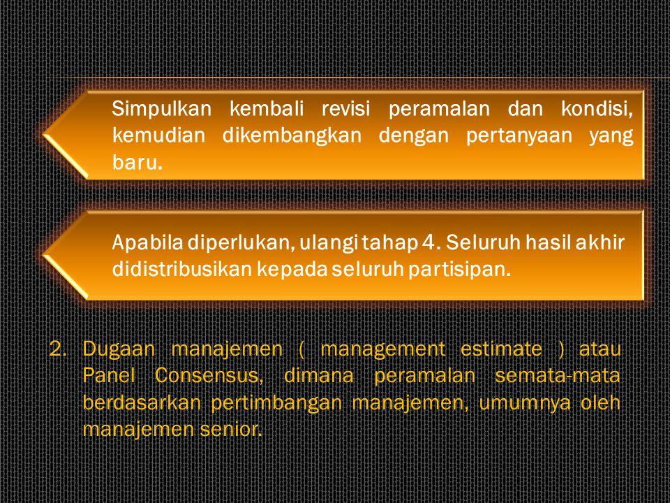 Simpulkan kembali revisi peramalan dan kondisi, kemudian dikembangkan dengan pertanyaan yang baru.