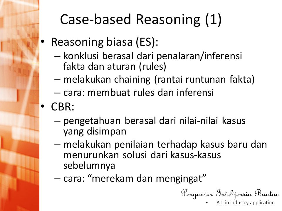 Case-based Reasoning (1)