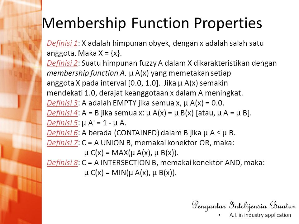 Membership Function Properties