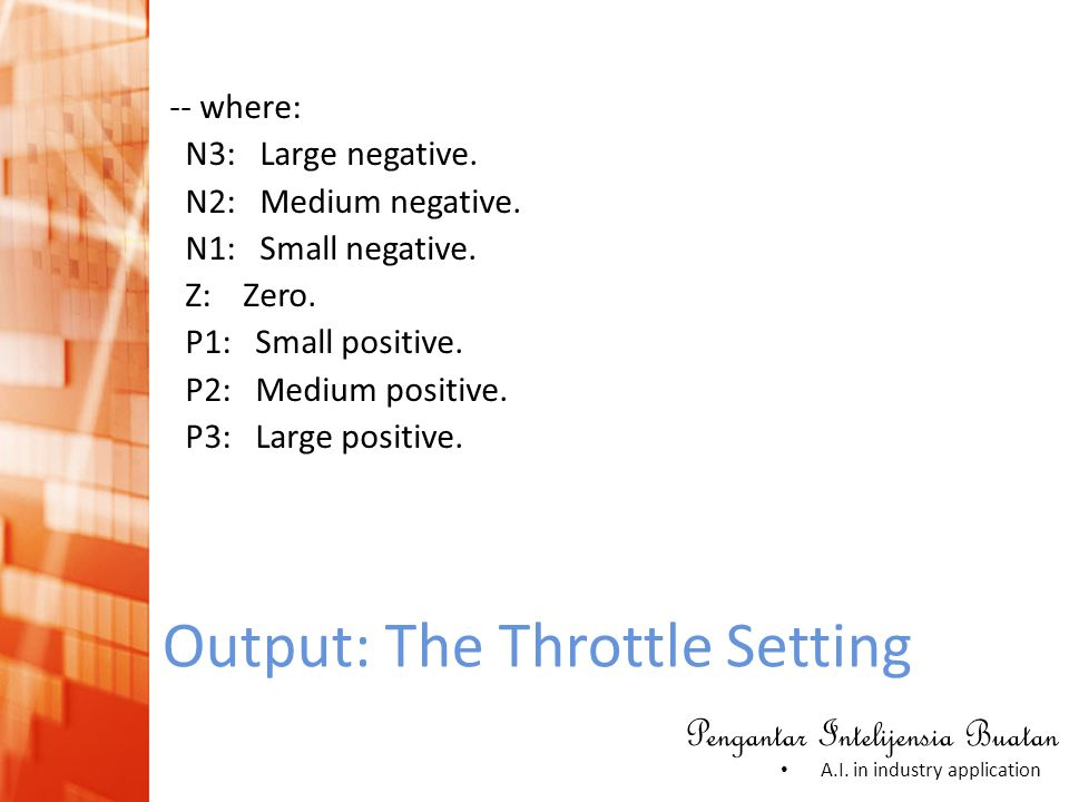 Output: The Throttle Setting